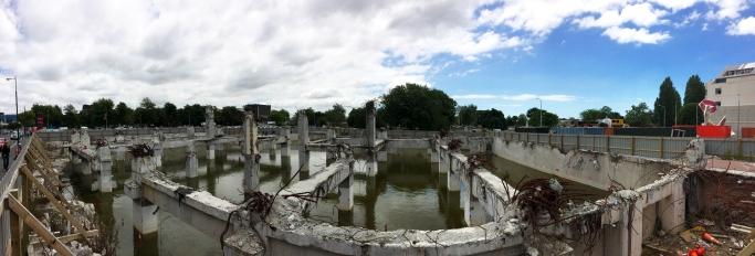 Vytopené základy po zemětřesení