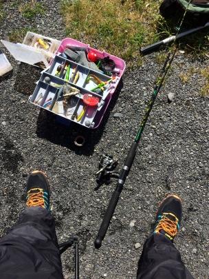 Příprava na rybaření