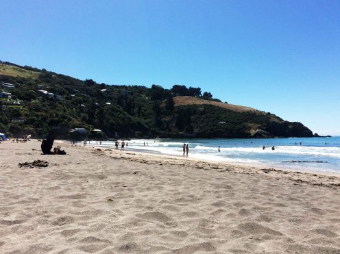 Pohodička na pláži.