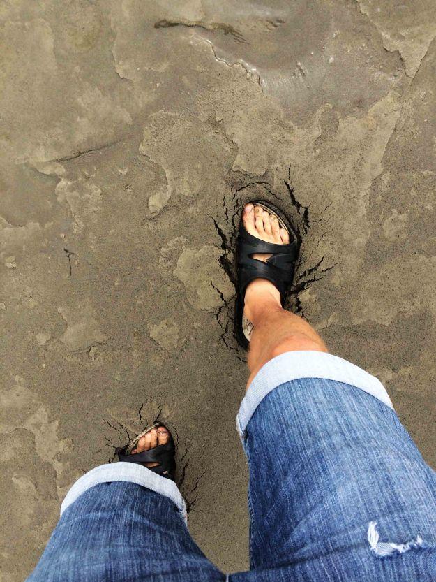 Bahno s pískem...