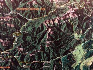 Mapa zdejšího parku.