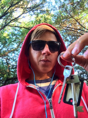 Gangster s klíčema, první klíče od bydlení.